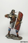 Легионер 24-го легиона, I-II вв. нашей эры, 75 мм - Оловянный солдатик коллекционная роспись 75 мм. Все оловянные солдатики расписываются мастером в ручную