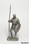 Византия. Пехотинец. 9-11 век - Не крашенный оловянный солдатик. Высота 54 мм.