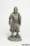 Английский рыцарь XIII век - Не крашенный оловянный солдатик. Высота 54 мм.