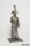 Капрал барабанщиков 1805 - Не крашенный оловянный солдатик. Высота 54 мм.