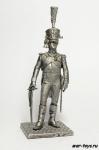 Офицер молодой гвардии 1809 - Не крашенный оловянный солдатик. Высота 54 мм.