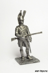Драгун караула 1808 - Не крашенный оловянный солдатик. Высота 54 мм
