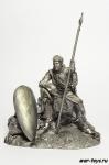 Нормандский рыцарь 1180 г - Не крашенный оловянный солдатик. Высота 54 мм