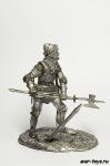 Рыцарь в бою - Не крашенный оловянный солдатик. Высота 54 мм
