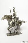 Конный кирасир - Не крашенный оловянный всадник. Масштаб 1:32. Высота всадника 54 мм