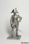 Офицер вольтижеров линейной пехоты 1806 - Не крашенный оловянный солдатик. Высота 54 мм
