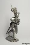 Сиенский Рыцарь в Битве при Сан-Романо, 1450 - Не крашенный оловянный солдатик. Высота 54 мм