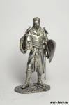 Средневоковый рыцарь - Не крашенный оловянный солдатик. Высота 54 мм