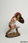 Защищающийся греческий воин, 480 г до н.э. - Оловянный солдатик коллекционная роспись 54 мм. Все оловянные солдатики расписываются художником в ручную