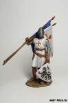 Крестоносцы. Госпитальер после боя 13 век - Оловянный солдатик коллекционная роспись 54 мм. Все оловянные солдатики расписываются художником в ручную