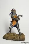 Германия. Рыцарь 14 век - Оловянный солдатик коллекционная роспись 54 мм. Все оловянные солдатики расписываются художником в ручную