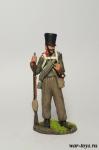 Русский пехотинец в походной форме (1812-1814г.) - Оловянный солдатик коллекционная роспись 54 мм. Все оловянные солдатики расписываются художником в ручную