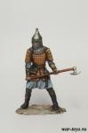 Тяжеловооруженный русский воин, 14 век - Оловянный солдатик коллекционная роспись 54 мм. Все оловянные солдатики расписываются художником в ручную