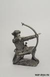 Викинг - лучник, IX-X вв - Оловянный солдатик. Чернение. Высота солдатика 54 мм