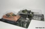 Набор танков Боевые машины мира. PzKpfw VI Tiger II+Леопард 1А2 - Масштабные коллекционные модели 1:72. Материал : металл, пластик