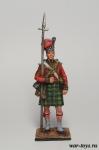 Сержант шотландской пехоты, 1815 год - Оловянный солдатик коллекционная роспись 54 мм. Все оловянные солдатики расписываются художником в ручную