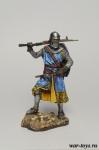 Средневековый рыцарь, первая половина XIV в. - Оловянный солдатик коллекционная роспись 54 мм. Все оловянные солдатики расписываются художником в ручную
