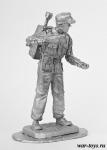 Заряжающий расчета Panzerschreck - Оловянный солдатик. Чернение. Высота солдатика 54 мм
