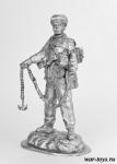 Горный стрелок РККА, 1942 г. - Оловянный солдатик. Чернение. Высота солдатика 54 мм