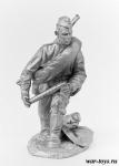 Заряжающий из расчета 45 мм пушки, 1944 г. - Оловянный солдатик. Чернение. Высота солдатика 54 мм