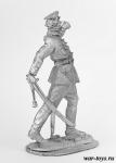 Офицер РИА. 1915 г. Крепость Осовец. - Оловянный солдатик. Чернение. Высота солдатика 54 мм