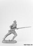 Рядовой РИА, 1915 г. Крепость Осовец. - Оловянный солдатик. Чернение. Высота солдатика 54 мм