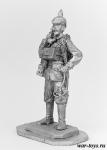 Немецкий телефонист, 1915 год - Оловянный солдатик. Чернение. Высота солдатика 54 мм