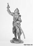 Офицер болгарской пехоты, 1914 г. - Оловянный солдатик. Чернение. Высота солдатика 54 мм