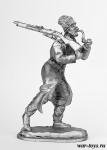 Рядовой болгарской пехоты, 1914 г. - Оловянный солдатик. Чернение. Высота солдатика 54 мм