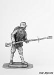 Немецкий огнеметчик, 1916 г. - Оловянный солдатик. Чернение. Высота солдатика 54 мм