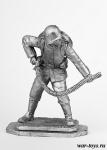 Помощник огнеметчика, 1916 г. - Оловянный солдатик. Чернение. Высота солдатика 54 мм