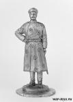 Офицер Штаба Азиатской конной дивизии, 1919 г. - Оловянный солдатик. Чернение. Высота солдатика 54 мм
