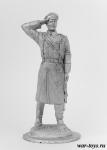 Офицер Лейб-гвардии казачьего полка, 1917 г - Оловянный солдатик. Чернение. Высота солдатика 54 мм