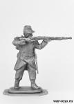 Вольтижер французской армии, Оборона Севастополя 1854-1855 г.г. - Оловянный солдатик. Чернение. Высота солдатика 54 мм