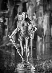 Светлый Альв, Катарина Клэрдэг - Оловянный солдатик. Чернение. Высота солдатика 54 мм