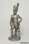 Генерал полка Конных гренадеров Имп. гвардии. Франция, 1807-14 - Оловянный солдатик. Чернение. Высота солдатика 54 мм
