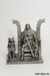 Ярл на троне - Оловянный солдатик. Чернение. Высота солдатика 54 мм