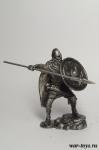 Викинг с копьем - Оловянный солдатик. Чернение. Высота солдатика 54 мм