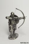 Викинг с луком - Оловянный солдатик. Чернение. Высота солдатика 54 мм