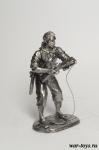 Пират-абордажник - Оловянный солдатик. Чернение. Высота солдатика 54 мм