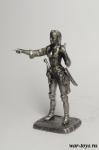Пиратка-капитан - Оловянный солдатик. Чернение. Высота солдатика 54 мм