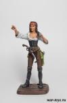 Пиратка-капитан - Оловянный солдатик коллекционная роспись 54 мм. Все оловянные солдатики расписываются художником в ручную