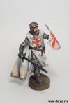 Рыцарь Тамплиер - Оловянный солдатик коллекционная роспись 54 мм. Все оловянные солдатики расписываются художником в ручную