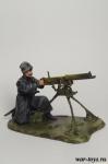 Пулеметчик отряда балтийского флота - Оловянный солдатик коллекционная роспись 54 мм. Все оловянные солдатики расписываются художником в ручную