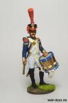 Барабанщик гренадерской роты 57-го линейного полка. Франция, 180 - Оловянный солдатик коллекционная роспись 54 мм. Все оловянные солдатики расписываются художником в ручную