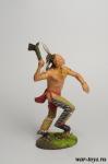 Индеец с тамагавком - Оловянный солдатик коллекционная роспись 54 мм. Все оловянные солдатики расписываются художником в ручную