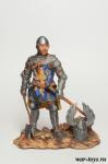 Средневековый рыцарь - Оловянный солдатик коллекционная роспись 54 мм. Все оловянные солдатики расписываются художником в ручную