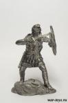 Персидский воин 75 мм - Оловянная миниатюра. Чернение. Высота 75 мм.