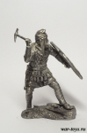 Персидский воин с клевцом V в. до н.э. 75 мм - Оловянная миниатюра. Чернение. Высота 75 мм.