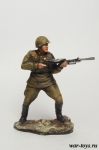 Красноармеец с пулеметом 1945 год - Оловянный солдатик коллекционная роспись 54 мм. Все оловянные солдатики расписываются художником в ручную